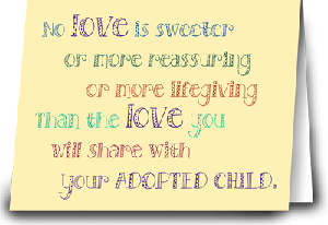 adoption card for parents adopting an older child