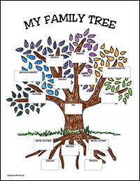 free adoption family tree