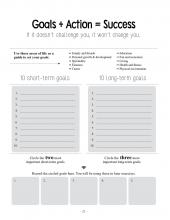A worksheet from Succeeding as a Foster Child; This worksheet starts the process of setting goals and taking action for young adults. It records 10 long-term goals and 10 short-term goals. The goals circled here are used in later exercises.