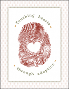 An inexpensive gift from a social worker to an adoptive family. A personalized message can be written on the back.