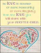 Adoption cards for adoptive parents of older child